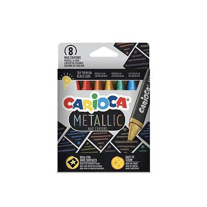 Carioca Metalik Wax Maxi Pastel Boya Kalemi 8'li