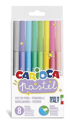 Carioca Pastel Renk Keçeli Kalem 8'li