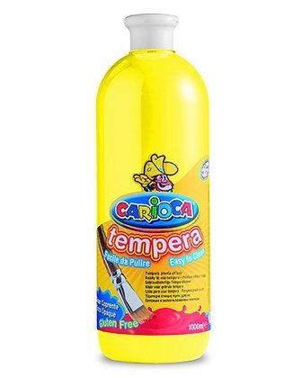 Carioca Tempera Suluboya Süper Yıkanabilir Sarı 1000 Ml.