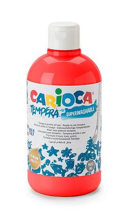 Carioca Tempera Suluboya Süper Yıkanabilir Kırmızı 500 Ml.