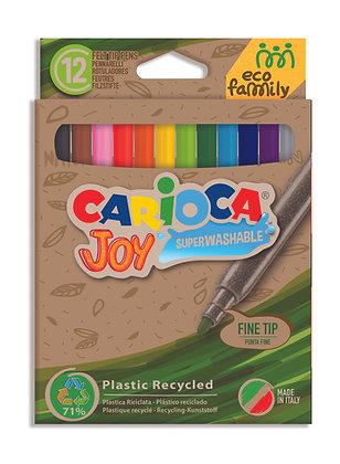 Carioca Eco Joy Süper Yıkanabilir Keçeli Boya Kalemi 12'Li