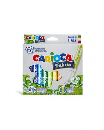 Carioca Keçeli Kumaş Boya Kalemi Maxı 12'Li