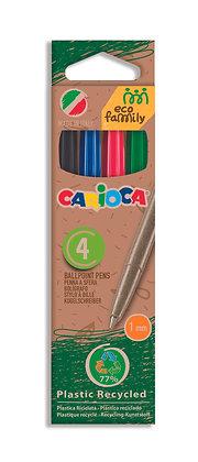 Carioca Eco Family Tükenmez Kalem  4'lü 4 Renk