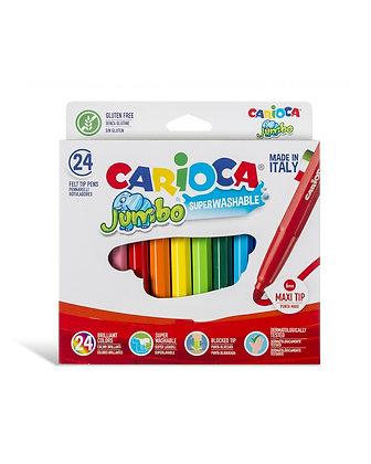 Carioca Jumbo Süper Yıkanabilir Keçeli Boya Kalemi 24'Lü