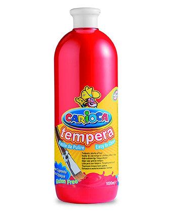 Carioca Tempera Suluboya Süper Yıkanabilir Kırmızı 1000 Ml.