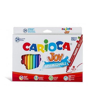 Carioca Joy Süper Yıkanabilir Keçeli Boya Kalemi 24'Lü
