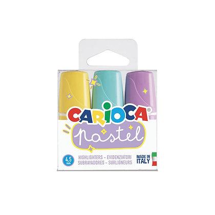 Carioca Pastel Renk Mini İşaretleme Kalemi 3'lü