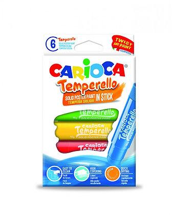 Carioca Temperello Stıck Poster Boyama Kalemi 6'Lı