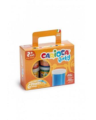 Carioca Baby Yıkanabilir Parmak Boyası - 6 Renk X 80 Gr 2 Yaş+