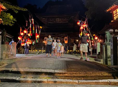 令和2年8月6日 -御手洗祭斎行・牛乳パック灯籠点灯-