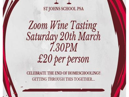 Wine Tasting on ZOOM!