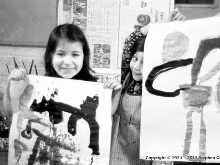 A glimpse into a 1970's art lesson