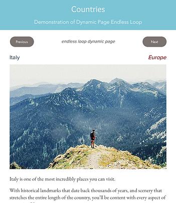 Dynamic Page Loop