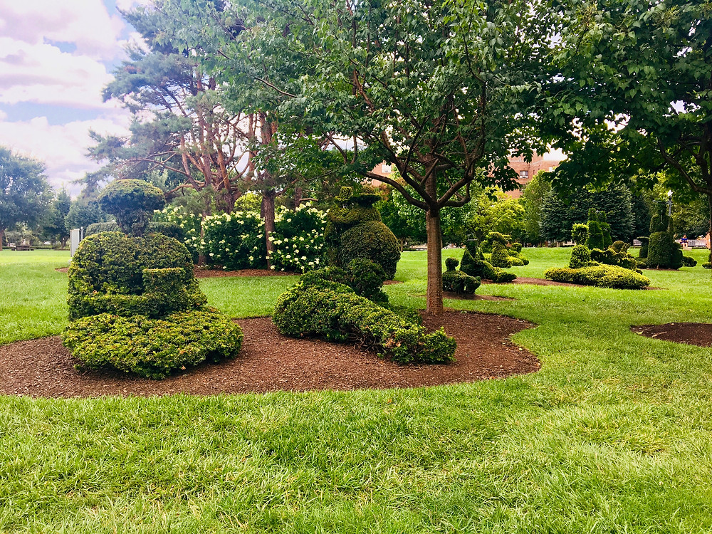 Topiary statues at the Topiary Garden in Columbus, OH