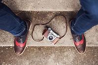 chaussures et appareil photo