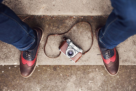 shoes and camera