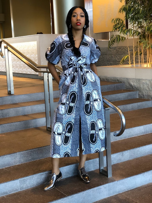 ELIE Tie Midi Dress