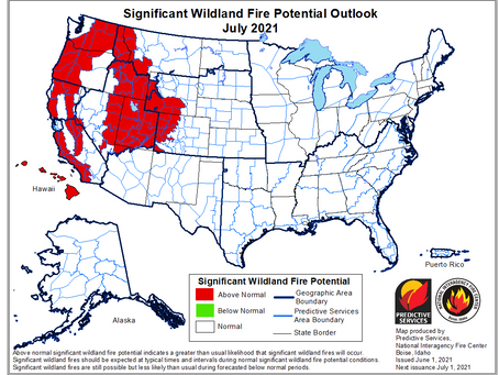 Be Careful Chelan County. So far it's looking like a high fire probability summer.