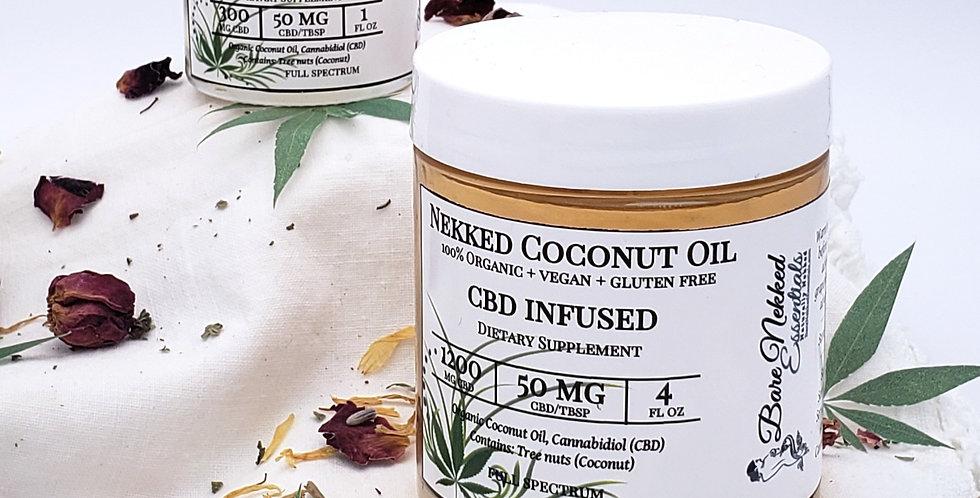 Nekked Coconut Oil (CBD Infused)