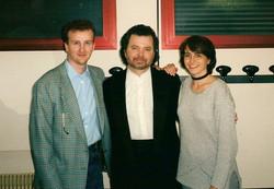 With Manuel Barrueco and Angela