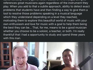 A very nice comment I got from my former student Damjan Bucic from Croatia