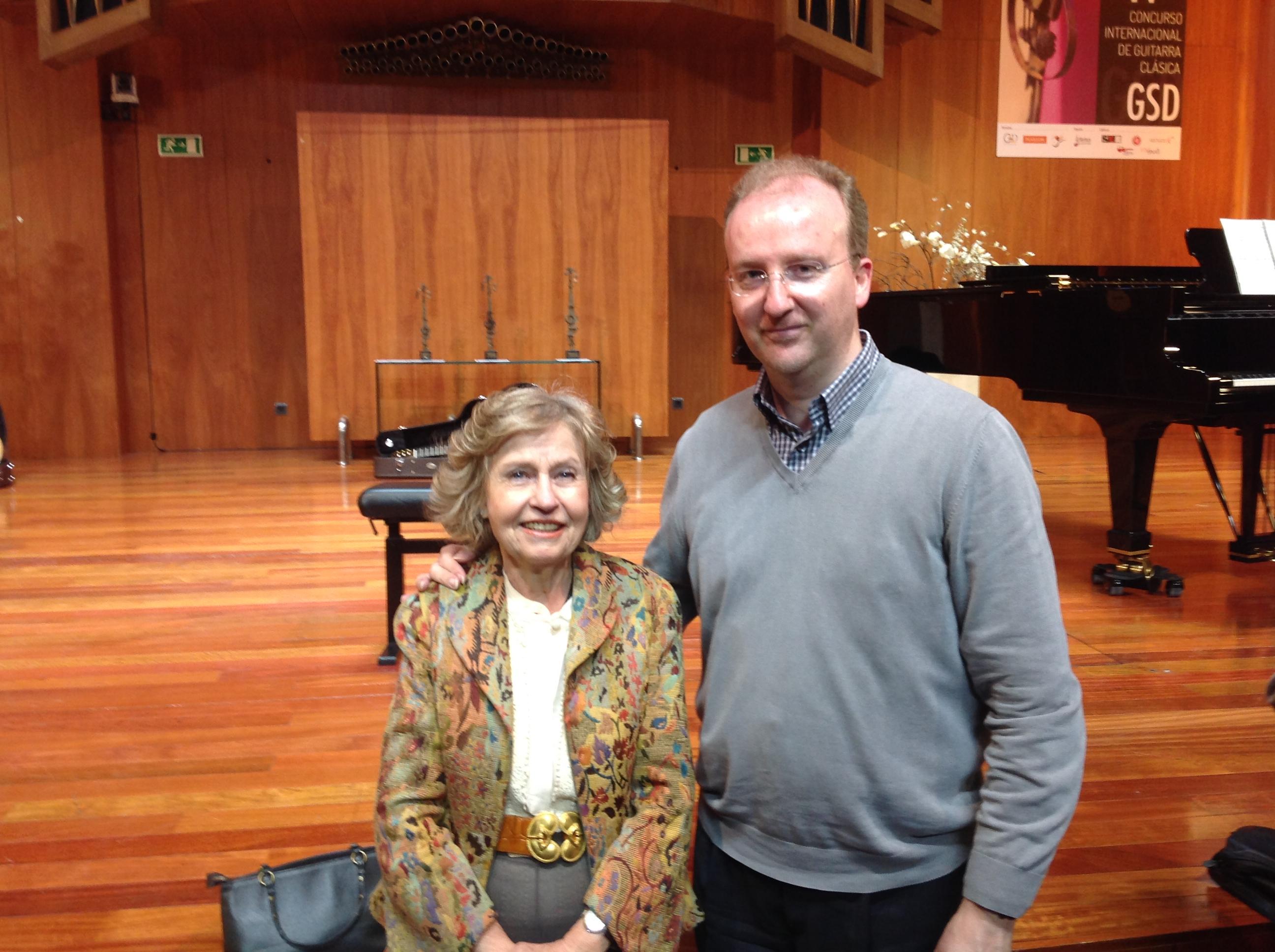 With Dona Cecilia Rodrigo