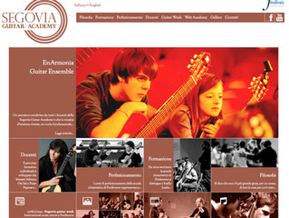 Segovia Guitar Academy website