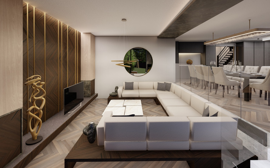 Sunken lounge