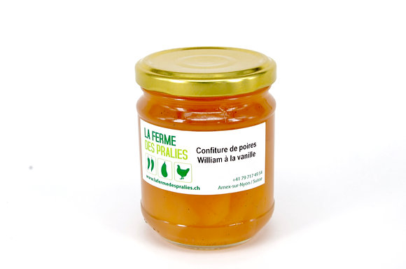 Confiture de poires William à la vanille