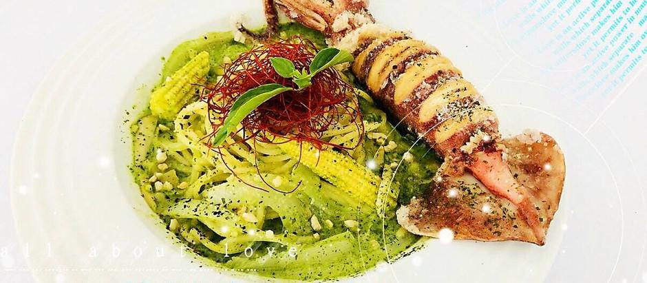 『黃金魷魚義大利麵』雙人同慶組得獎
