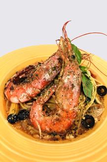 蒜煎天使紅蝦義大利麵