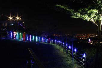 海灣星空夜色_星光柵欄+百萬夜景