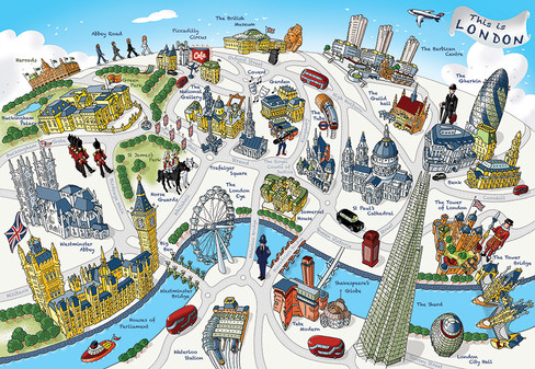 This is London map - colourful style
