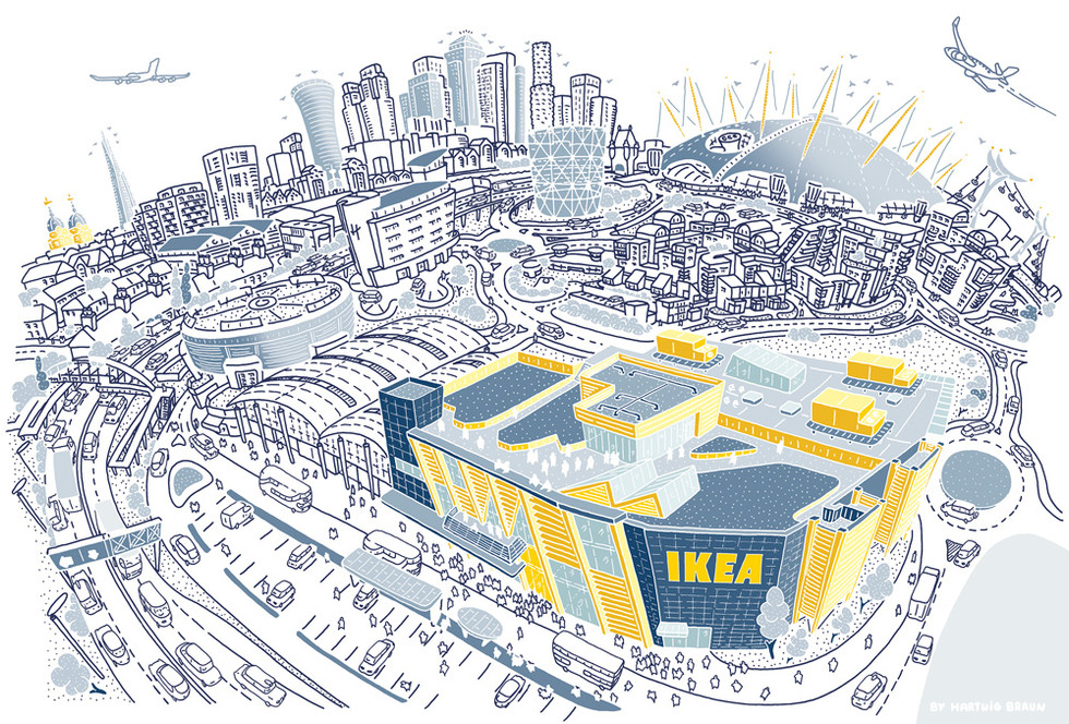 IKEA Greenwich Store (Monochromatic)