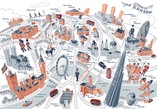 This is London map - graphic line style
