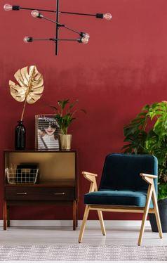 mur rouge fauteuil bleu.JPG