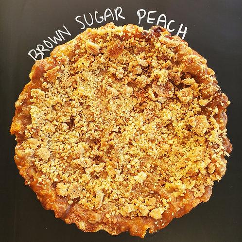 Brown Sugar Peach Crumb Pie