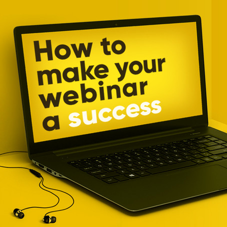 How to make your webinar a success