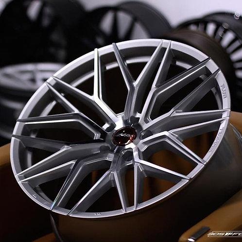 21x10 305Forged Wheels Flow Technik FT107 Hyper Silver