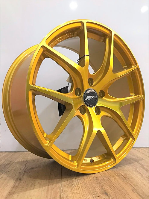 18x8.5 305Forged Wheels Flow Technik FT101 Gold Brushed