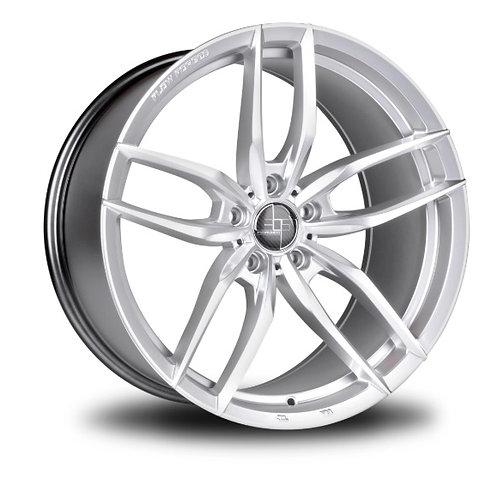 19x8.5 305Forged Wheels Flow Technik FT105 Sparkle Silver