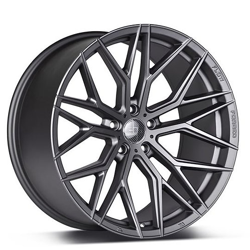 "20"" 305Forged Rims Flow Technik FT107 Gloss Black Black Clear"