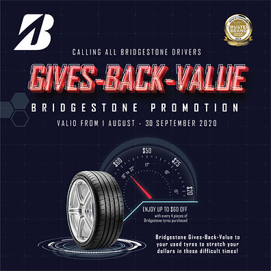 Bridgestone tyres sale
