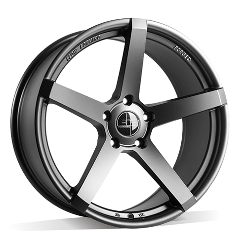 19x8.5 305Forged Wheels Flow Technik FT103 Stealth Grey