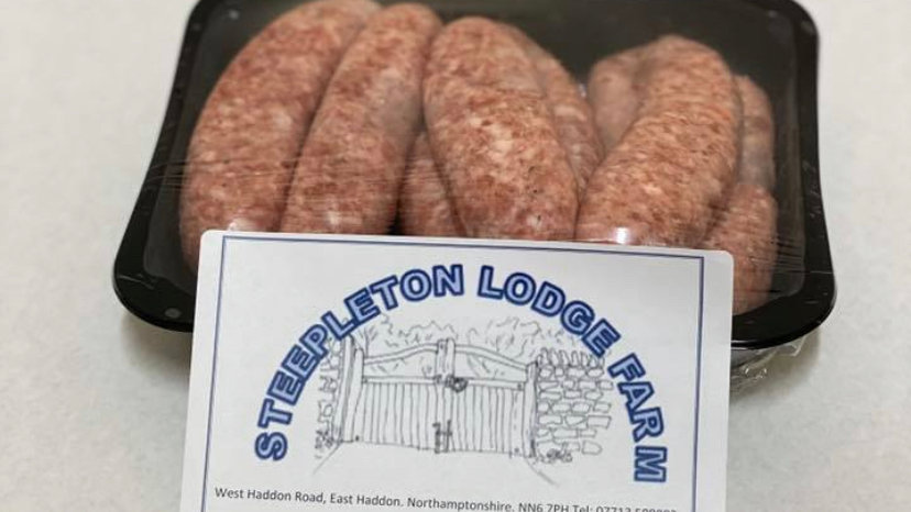 550g pack of pork sausages (9 per pack gluten free) - Available July