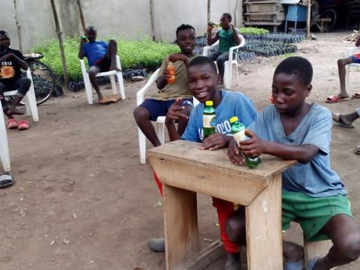 Feeding the boys