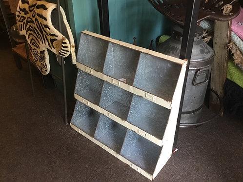 Industrial pigeon hole shelf