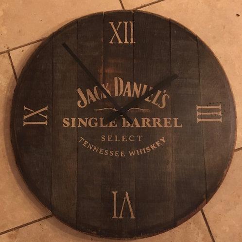 Whiskey barrel clocks