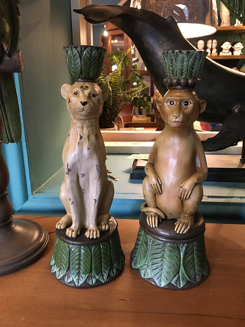 Monkey or cheetah candlestick