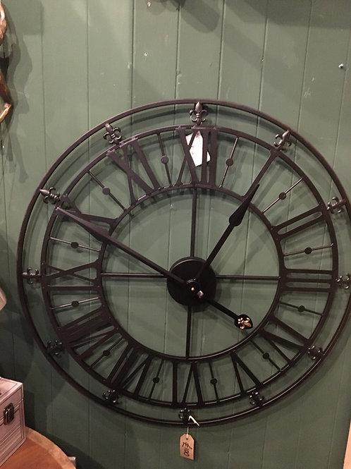 Clock skeleton 80cm available in black and gold